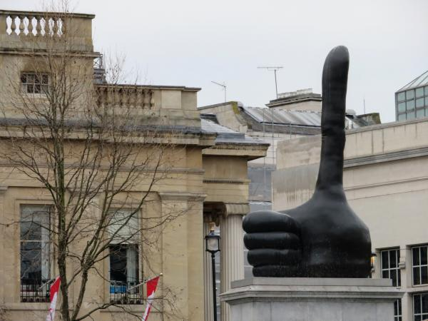 Thumbs way up! You've made it to the end of Part II of our walking tour! Next stop: The National Gallery.